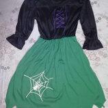 Карнавальное платье принцессы пауков ведьмы леди вамп на хэллоуинна 5-7лет