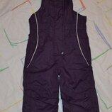 Полукомбинезон, теплые штаны, лыжные штаны рост 74-80 см