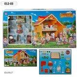 Домик с флоксовыми животными Happy Family 012-03 Загородный Домик аналог Sylvanian Families