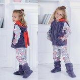 Детский пижамный домашний комплект 4-ка 207 Зайка в расцветках