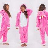 Детская махровая цельная пижама 205 Кигуруми Единорог в расцветках