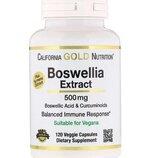 California Gold Nutrition Экстракт босвеллии плюс экстракт куркумы Boswellia Extract 500 mg 120 caps