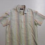 Фирменная легкая хлопковая рубашка L