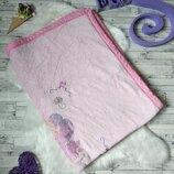 Детское махровое одеяло розовое