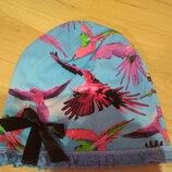 трикотажная шапочка 4-5 лет, легкая шапочка 4-5 лет, шапочка весенняя 4-5 лет
