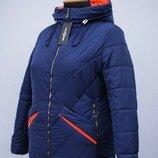 Женская удлиненная куртка больших размеров