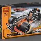 Конструктор Decool 3413 Черный гоночный болид Pull-Back. Техник аналог Lego Technic 42026