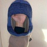 Шапка-Шлём, зимняя шапка, тёплая шапка AGBO, шапка и шарф