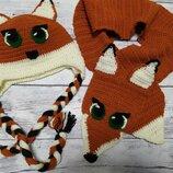 Шапка и шарф детское