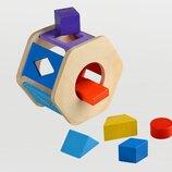 Деревянная игрушка сортер Радуга Вк-006, Веслка Тато. В наличии.