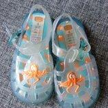 Босоножки сандалии мыльницы аквашузы желейки Mini mode uk 4 eur 21