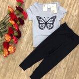 Пижама h&m бабочка размер 92 см H&M
