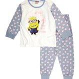 Хлопковая пижама с Миньоном р.98-116