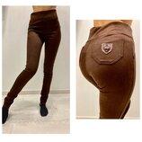 размеры 42-60 5 цветов Плотные замшевые брюки лосины легинсы