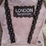 Праздничная стильная туника , свитер для девочки, рост 140-150 Турция