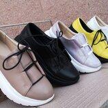 Новинка женские кожаные кроссовки