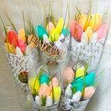 Тюльпаны Букет тюльпанов Подарочный букет на 14 февраля, 8 марта