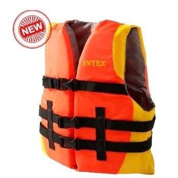Спасательный жилет взрослый Intex 69681, 40 и больше кг, оранжевый