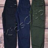 Джоггеры карго штаны на резинке на рост от 116 до 176