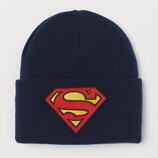 Шапка демисезонная двойная h&m супермен