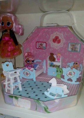 Roombox румбокс, кукольный домик чемодан. Для кукол лол.