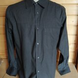 Мужские сорочка рубашка яркая чорний розмір-52-54