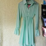 платье рубашка волан