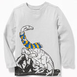 Трикотажный реглан Old Navy с динозавром, р. 5Т.