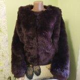 женская меховая куртка шуба короткая шубка пиджак с длинным рукавом на змейке