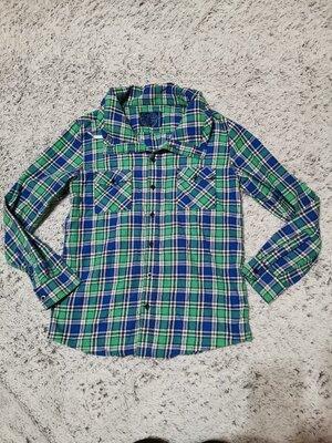 Рубашка в клетку, клетчатая рубашка на 13-14 лет Blue Zoo