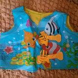 Детский жилет для плавания рыбки intex