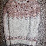 Джемпер травка свитер стразы одежда девочка
