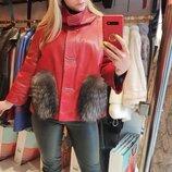 Курточка натуральная кожа чернобурка Турция все размеры