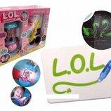 Набор Рисуй светом с куклой фонарик ночник волшебная ручка BB87