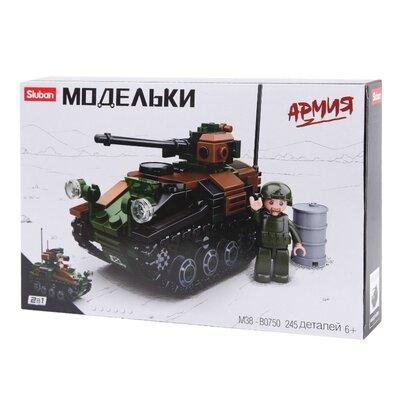 Конструктор Sluban m38-b0750 Военный танк 2в1 245 деталей