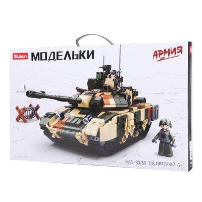 Конструктор Sluban m38-b0756 Военная техника Боевой танк 758детали