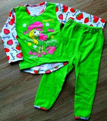 Яркая байковая пижама девочке. с 92 по 140 р-р.