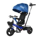 Велосипед трёхколёсный TILLY Melody T-385 синий с родительской ручкой