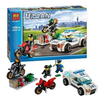 Конструктор Bela 10417 City Сити Скоростная полицейская погоня аналог Lego City 60042 , 128 деталей