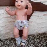 Одежда для кукол Беби Борн. Трусики и носочки.