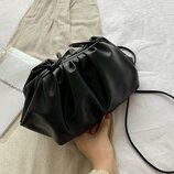 Стильная сумочка на плечо с искусственной кожи, черная, новая