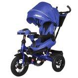 TILLY Impulse Т-386 трёхколёсный детский велосипед синий с пультом и усиленная рама
