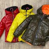Яркие модные куртки оверсайз плащевка монклер
