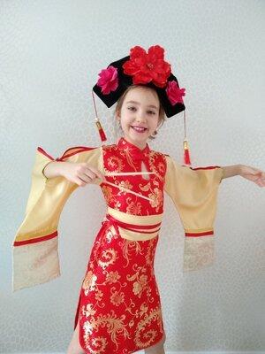Прокат,карнавальный маскарадный костюм Китаянка китаянки, японка новогодние,на утренник