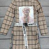 Стильна сукня в клітку для дівчат підлітків пастельних тонів р.134-158см