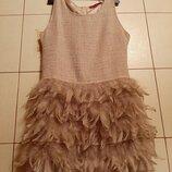 Пух и перья платье Boohoo