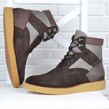 Ботинки мужские замша кожа Filipe Sousa Португалия коричневые весна-осень демисезонные