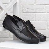 Мокасины мужские кожаные Oltro Португалия черные 42, 43, 44 размеры