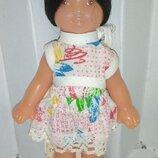 Кукла новая куколка Ссср парик паричок брюнетка в родном этикетка Кира 16см Донецк донецкая А