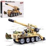 Конструктор Sluban M38-B0751 Военный, Танк, 159 деталей